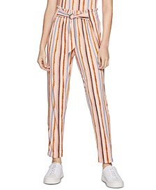 Striped Tie-Waist Pants