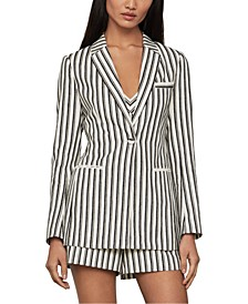 Striped One-Button Jacket