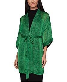 Snake-Embossed Kimono