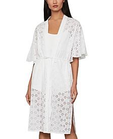 Cotton Eyelet Kimono