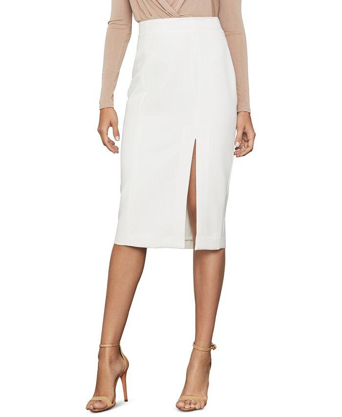 BCBGMAXAZRIA - Stretch Crepe Pencil Skirt