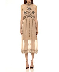 Hand Embroided Midi Dress