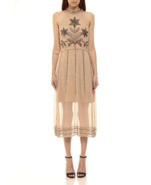 Hand Embroided Midi Dress