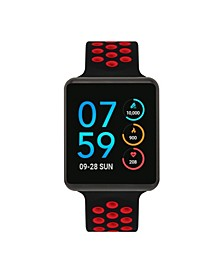 Men's Women's Air SE Black Case with Black and Red Perforated Strap 37mm