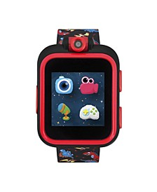 PlayZoom Black Smartwatch for Kids with Dinosaur Print 42mm