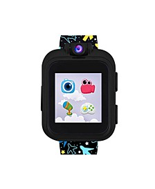PlayZoom Black Smartwatch for Kids Airplane Print 42mm