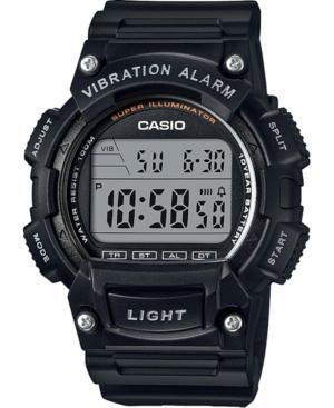 Men's Digital Black Resin Strap Watch