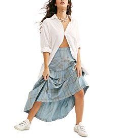 Plaid Fever Midi Skirt