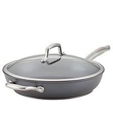 "12"" Covered Deep Skillet with Helper Handle"