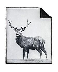Inc Throw Printed Faux Fur Nordic Deer