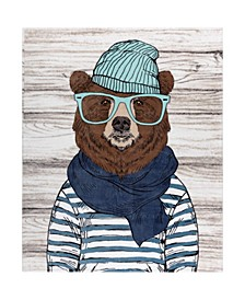 Inc Printed Ribbed Flannel Throws Chilly Bear