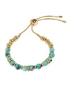 "Turquoise Stone Friendship Bracelet, 10"" adjustable"