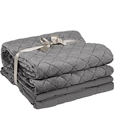 Inc Solid Microfiber Weighted Blanket