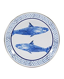 Fish Camp Enamelware Sandwich Plates, Set of 4