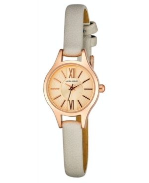Women's Petite Case Gray Polyurethane Strap Watch 23mm