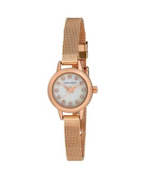 Women's Mini Case Pink Alloy Bracelet Watch 22mm