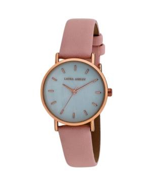 Women's Slim Clean Pink Polyurethane Strap Watch 34mm