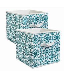 Non-woven Polyester Cube Scroll Square Set of 2
