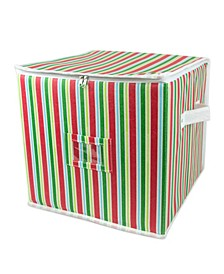 Ornament Storage Small Holiday Stripe