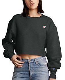 Women's Reverse Weave Cut-Off Cropped Sweatshirt