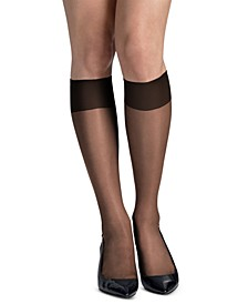 Women's 6-Pk. Slik Reflections Sheer-Toe Knee Highs