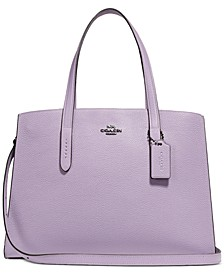 Charlie Medium Carryall in Pebble Leather