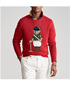 Men's Riding Bear Sweater