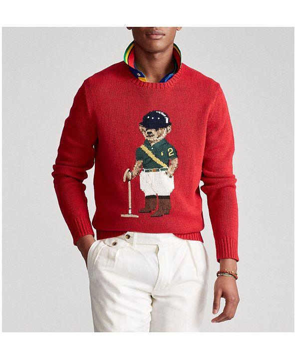 Polo Ralph Lauren Men's Riding Bear Sweater