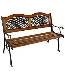 2-Person Outdoor Cross weave Design Garden Bench