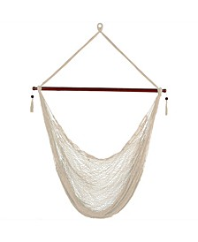Cabo Extra Large Hanging Rope Hammock Chair Swing with Spreader Bar