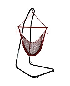 Hanging Cabo Extra Large Hammock Chair with Adjustable Stand