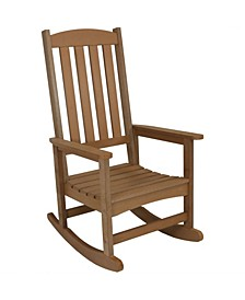 Outdoor Patio All-Weather Faux Wood Design Rocking Chair