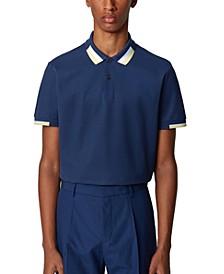 BOSS Men's Parlay 66 Dark Blue Polo Shirt