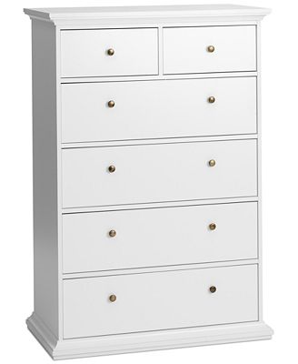 Amelie Ready-to-Assemble 6-Drawer Chest, Quick Ship