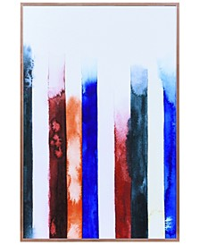 """Southern Traces on Reverse Printed Art Glass and Anodized Aluminum Frame Wall Art, 24"""" x 16"""" x 1"""""""