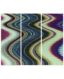 """Rumba Abstract 1,2 3 Frameless Free Floating Tempered Glass Panel Graphic Abstract Wall Art, 63"""" x 24"""" x 0.2"""""""