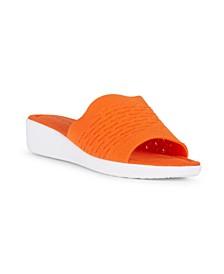 DARE Slip On Knit Wedge Sandal