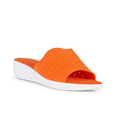 Danskin DARE Slip On Knit Wedge Sandal