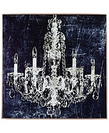 """8 Candle lights on Reverse Printed Art Glass and Anodized Aluminum Frame Wall Art, 32"""" x 32"""" x 1"""""""