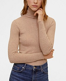 Combined High Collar Sweater
