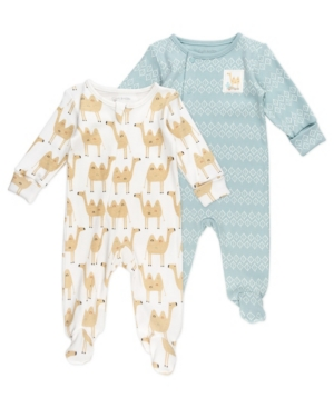 Mac & Moon Baby Boy 2-Pack Sleepsuits