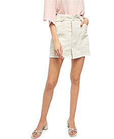 Free People Alpha Utility Contrast-Seam Mini Skirt