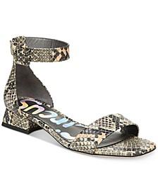 Jade Two-Piece Block-Heel Sandals