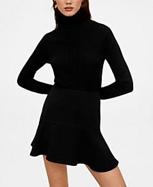 Short flared skirt