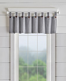 "Tucker Ticking Stripe 60"" x 15"" Window Valance"