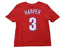 Philadelphia Phillies Kids Bryce Harper Name and Number Player T-Shirt