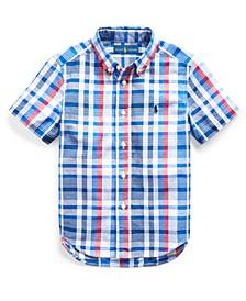 Toddler Boys Cotton Madras Shirt
