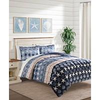 Sunham Baja Blue 3-Pc. Full/Queen Comforter Set