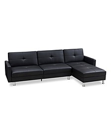 Davenport Convertible Sofa Bed Sectional with Storage