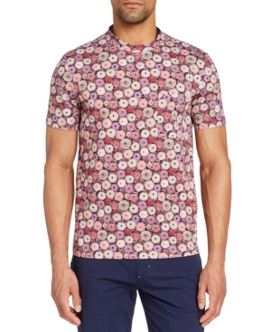 Men's Slim-Fit Pincushion Crewneck Short Sleeve T-shirt